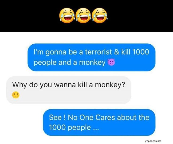 Hilarious Text About Terrorist vs.Monkey