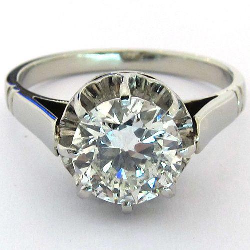 Bague diamant monture ancienne 1239