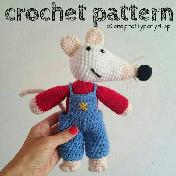 My Friend Maisy mouse inspired crochet amigurumi by OnePrettyPony
