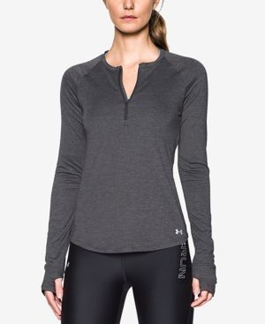 Under Armour Fly By Half-Zip Running Top - Gray XL