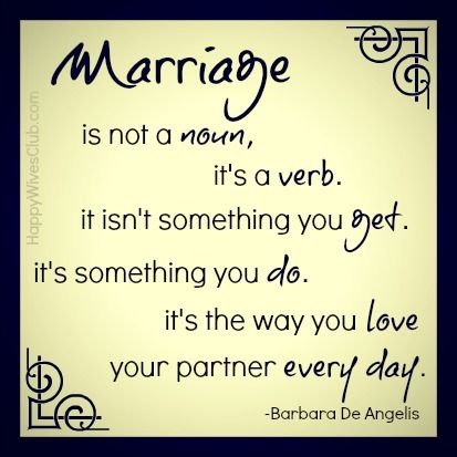 #Marriage is not a noun, it's a verb