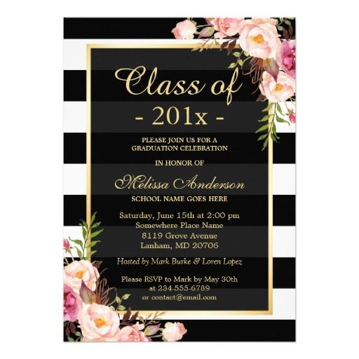 Best Modern Graduation Invitations Images On   Grad