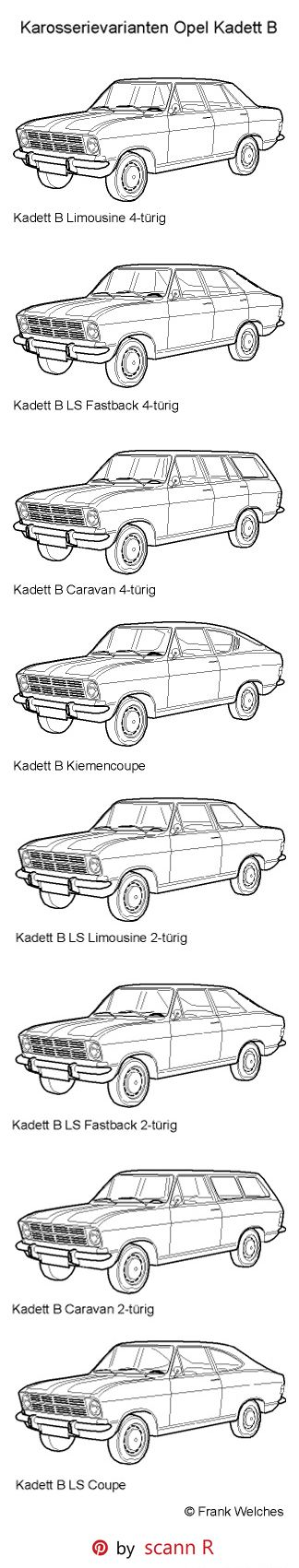"""The Opel Kadett B was launched by Opel at the Frankfurt Motor Show (Germany) in late summer 1965. The Kadett B was larger all-round than the previous Kadett A. But 10 mm (0.39 inch) lower in the basic standard """"Limousine"""" (sedan/saloon) form. Production went on for 8 years and ended in July 1973,"""
