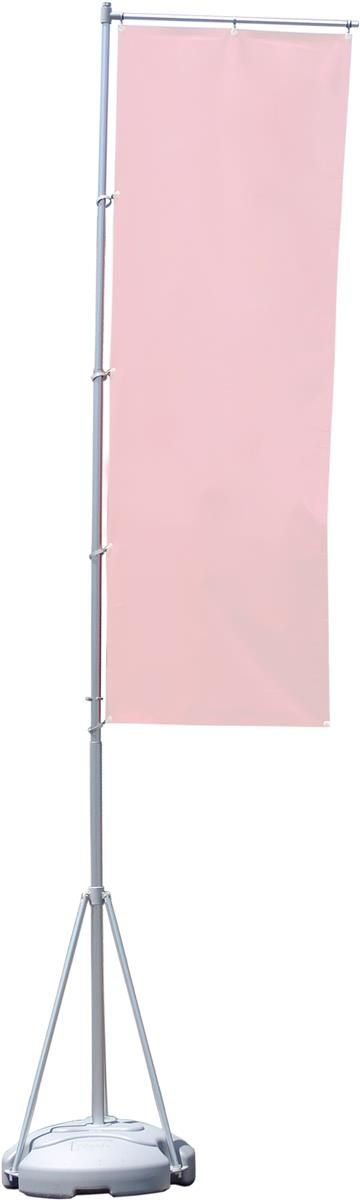 13-foot Outdoor Banner Flag Stand with Fillable Base - Silver