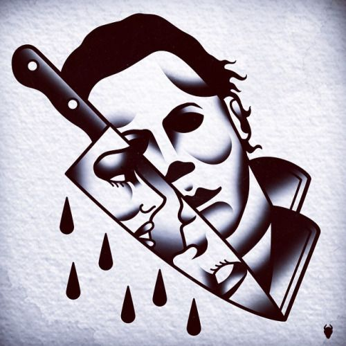 american horror story Illustration design horror Halloween tattoos ...