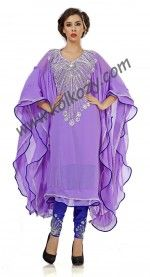 Elegant Lavender #Salwar #Kameez Style #Kaftan