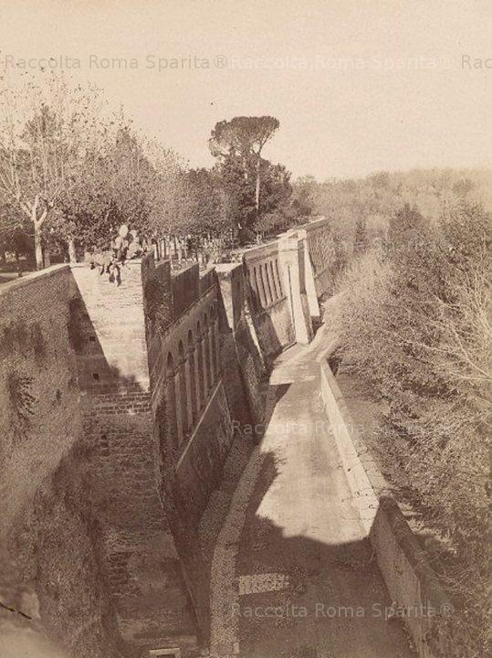 Foto storiche di Roma - Viale del Muro Torto