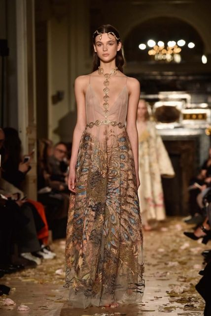 ATELIER Valentino Spring/Summer 2016 - Nature and oriental transparent dress