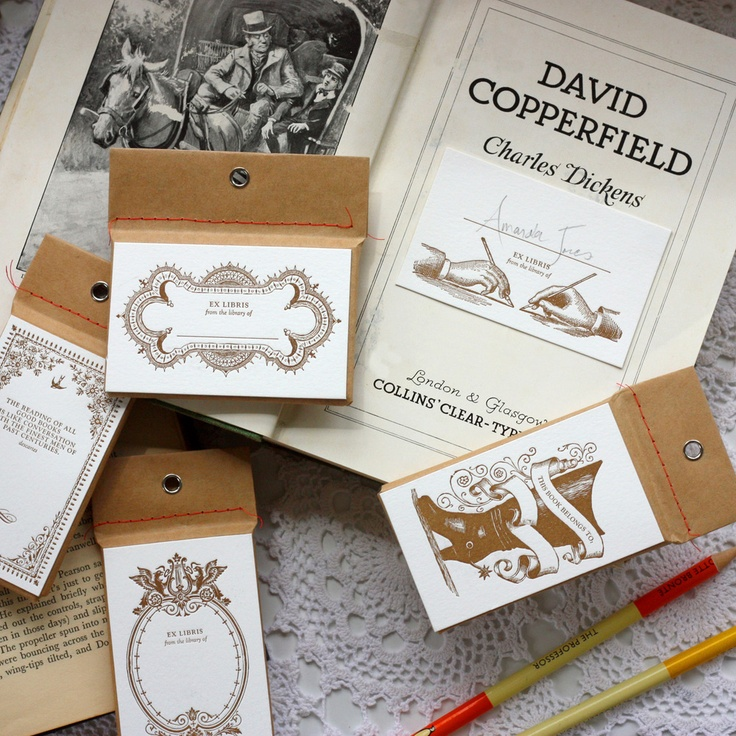 love the packaging pack of letterpress adhesive book plates letterpress