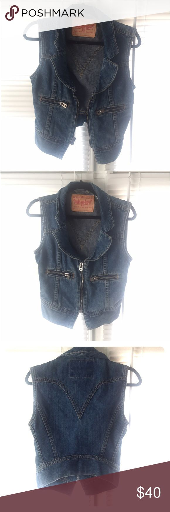 Vintage Levi's vest Denim Jacket Vintage Levi's Sleeveless Denim Jacket Levi's Jackets & Coats Vests