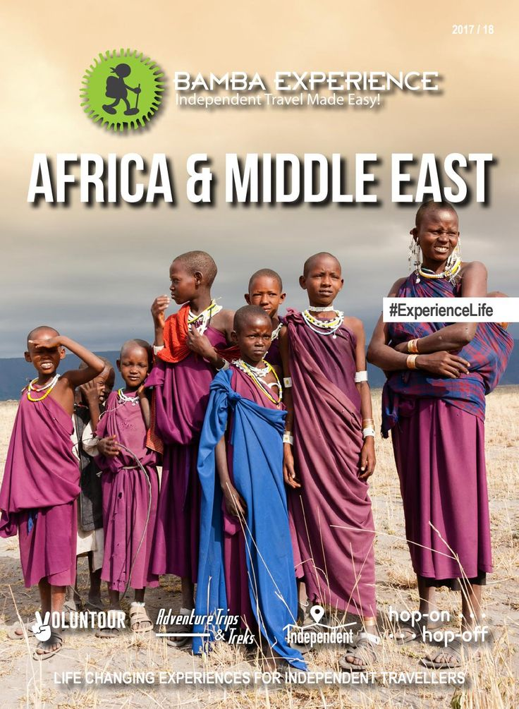 Bamba Experience Africa & Middle East Brochure 2017. from the deserts of the Middle East to the Serengeti in Africa, experience it all in this unforgettable region! #Brochure #BambaExperience #ExperienceLife  #Travel #IndependentTravel #HopOnHopOff #Africa #MiddleEast