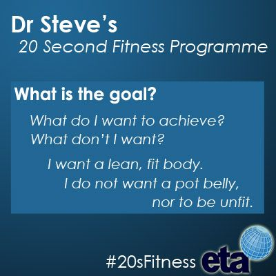 If you wanted to lose weight, tone up or get fit, what goals would you set yourself?http://goo.gl/9ZP4E  #20sFitness