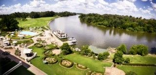 The Vaal River Resort in South Africa,is situated on the banks of the Vaal River approximately a 45minutes drive away from Johannesburg,Gauteng.Beautifully located on a bend in the Vaal River,the Riviera on Vaal Hotel Club offers comfortable 4star accommodation,well equipped conferencing facitilies as well as various outdoor activities.  http://www.south-african-hotels.com/hotels/riviera-on-vaal-hotel-and-country-club/