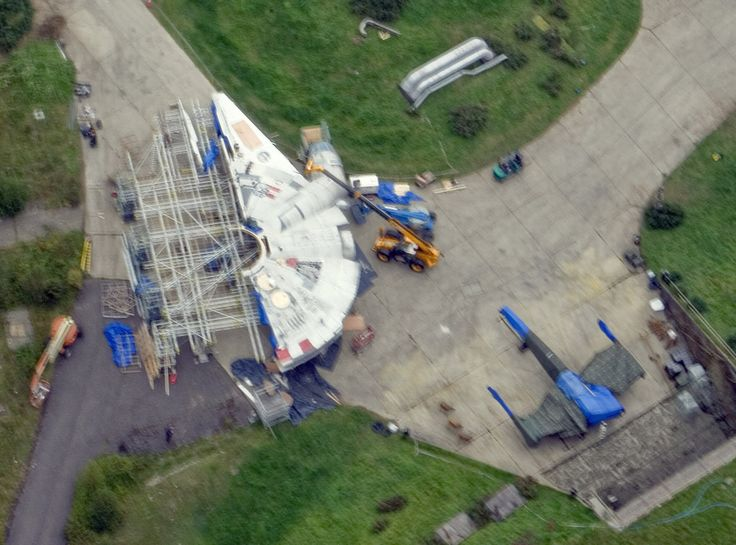 Star Wars: Episode VII Millennium Falcon Revealed? Check Out an Aerial Photo!