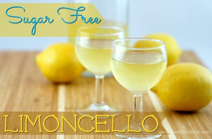 Homemade Sugar-Free Limoncello recipe - low carb (drink, alcohol, cocktail, Italian) #Keto #LCHF #LowCarb