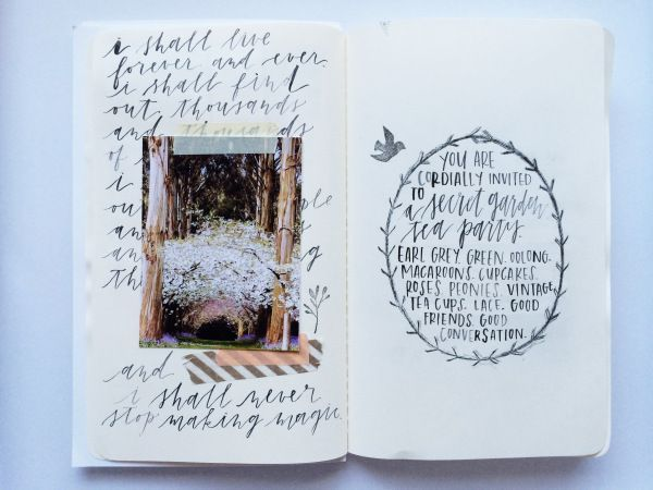 Art journal pages from Vanessa Documented
