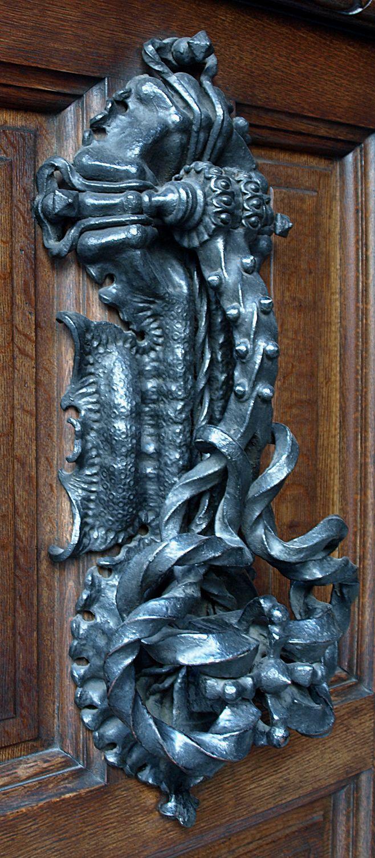 Door Knocker (1904) Casa Calvet, Barcelona, Spain by Antoni Gaudí