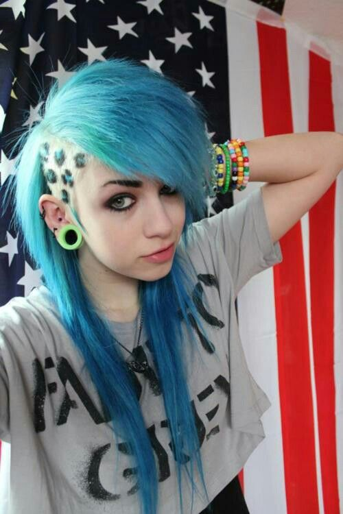 Alternative Hair Half Shaved Undercut Sidecut Gauges
