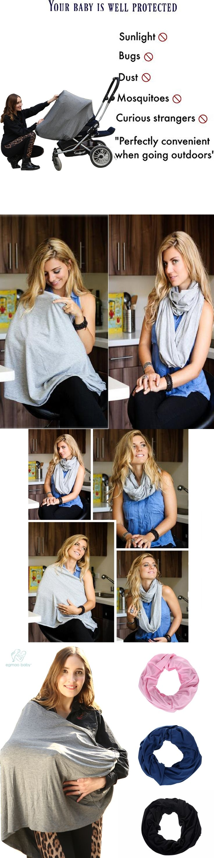 Stylish 100% Cotton Nursing Cover Infinity Nursing Scarf for Breastfeeding, Nursing Happens Infinity Breastfeeding Scarf