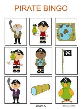 Free! Pirate Bingo (listening language skills)