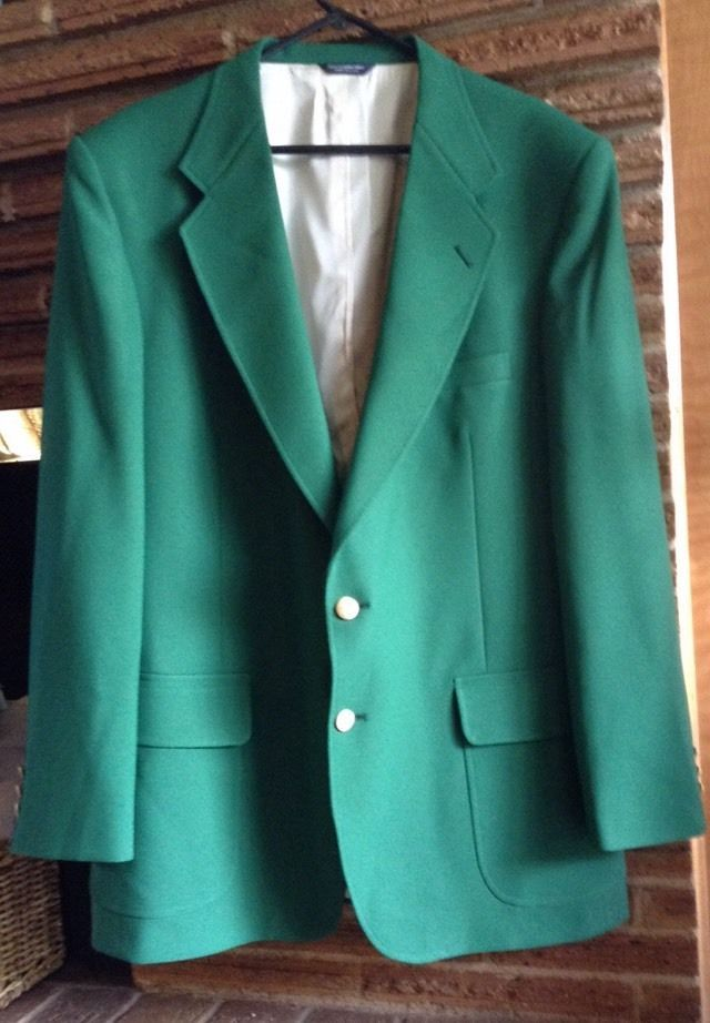 green Mens 46L Sport coat blazer gold buttons Masters Green Bay St. Patrick's  | eBay