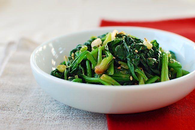 Spinach Side - Garlicky, sesame oil, mmm