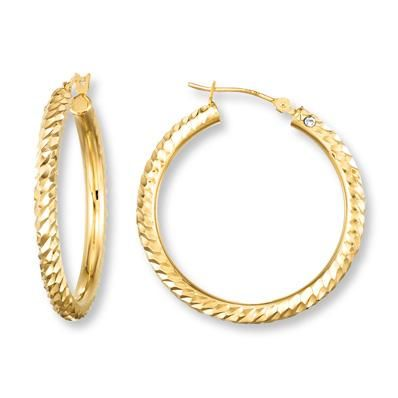 Every woman needs a pair (or two) of versatile gold hoops.