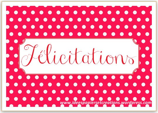 carte félicitation naissance rouge et blanche