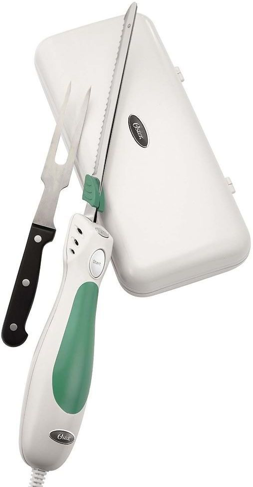 Oster FPSTEK2802 Accentuate Electric Knife and Case with Storage Case and Fork