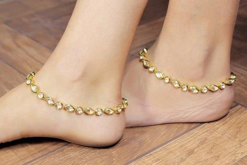 Lovely! -https://www.cooliyo.com/product/87424/gold-plated-kundan-made-fashion-ankletpayal/
