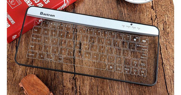 Bastron B9 este o tastatura Bluetooth facuta din sticla ce aduce designul viitorul mai aproape de tine. #Bastron #B9 #glass #keyboard #tastatura #design #tehnologie #futurism
