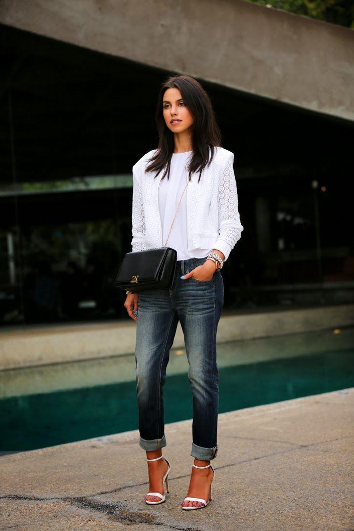 @Express lace bomber jacket & boyfriend jeans