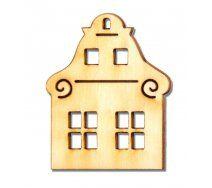 Drevený výrez domček 6