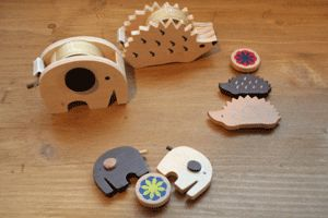 tape dispensers shaped like an elephants and a hedgehog no longer available :(