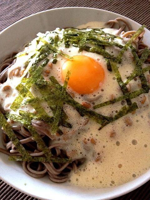 フワトロ蕎麦をすする~粋だねぇ - 11件のもぐもぐ - ♪ヘビロテ納豆卵のぶっかけ蕎麦 by 203Kouchi