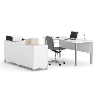 Bestar Pro-Linea Executive Desk & Credenza Set - 120875-17