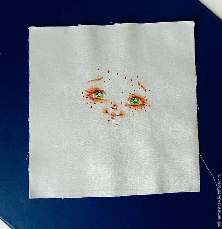 Мастер-класс для тех, кто не умеет рисовать, но любит шить кукол. Лицо куклы: 1. Скачиваем картинку и распечатываем в фото салоне на ткани. 2. Или покупаем готовое личико. 3. Или просим друга-художника нарисовать нам его на ткани. Ткань используем ту же, что и для тела самой куклы. Вырезаем лоскут с припуском 3 см вокруг самого лица: Шьем заготовки головок разных форм и размеров для примерки, я шью по этой…