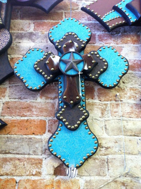 Medium Turquoise Cross by StylinWithHeart on Etsy, $65.00