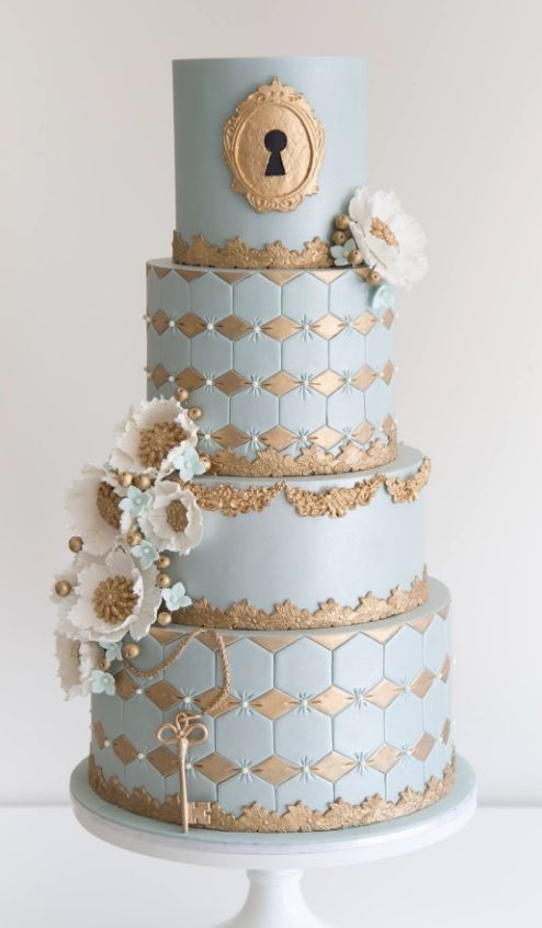 Featured Cake: COCO Cakes Australia; www.cococakes.com.au; Wedding cake idea.