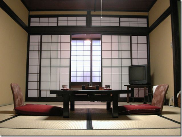traditional japanese house interior amp exterior doors design living room