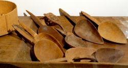 Cucchiai per farina, legno, Sardegna, inizio XX