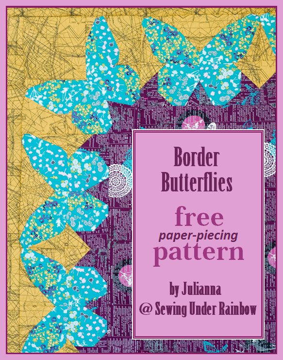 Border Butterflies free pattern - cute idea with a repeating pattern around the border