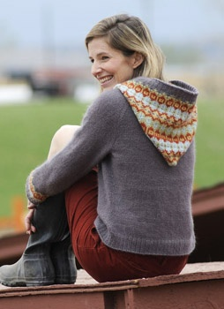 Great hoodie from Interweave Knits using blue sky alpacas yarn.   My next project?
