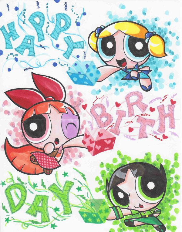 B-day Card PPG by Yang-Mei on deviantART