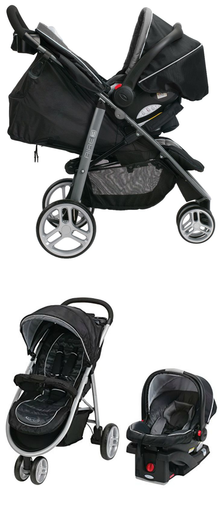 On our list of the top 8 best travel systems is the Graco Aire3 Click Connect. Why We Love It: Graco's Aire3 Click Connect Travel System comes with a stroller, infant car seat, and base. The stroller is sleek and lightweight weighing less than 22 pounds and has 3 wheels. It folds with one hand and locks automatically plus... Continue Reading