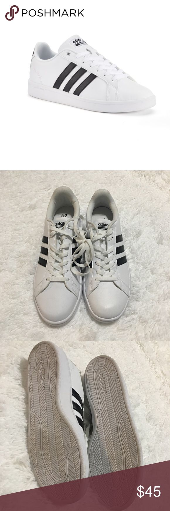 Men's ADIDAS Sneakers This shoe is in a great condition. I would love to say that this shoe is practically new since it's never been worn just tried on. There are some smudges / blemishes that can easily be clean please see the photos.  Men's ADIDAS Neo Cloudfoam adidas Shoes Sneakers