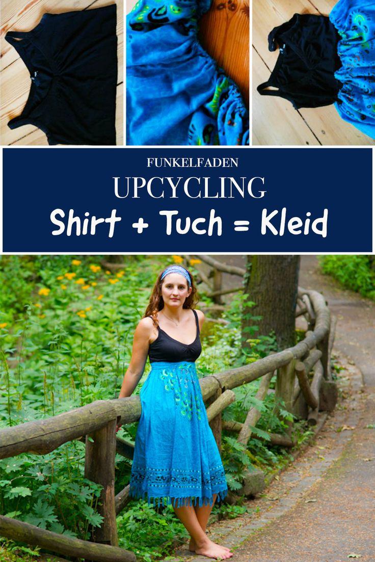 Naai upcycling – Hippie-jurk van shirt en doek / met instructies