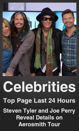 Top Celebrities link on telezkope.com. With a score of 18501. --- Steven Tyler and Joe Perry Reveal Details on Aerosmith Tour. --- #telezkopecelebrities --- Brought to you by telezkope.com - socially ranked goodness