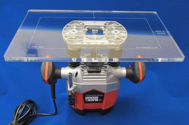 Placa de acrílico para inverter tupia RP250 Black and Decker