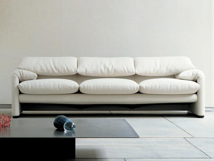 Cassina Maralunga Three Seater Sofa
